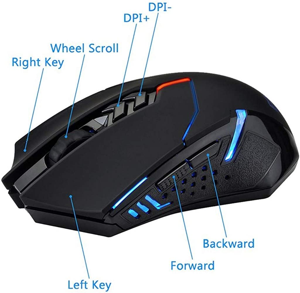 Silent Wireless Mouse Desktop Laptop Professional Esports USB Unlimited Laser Gaming Mouse Unlimited Mouse Lighting 2.4G