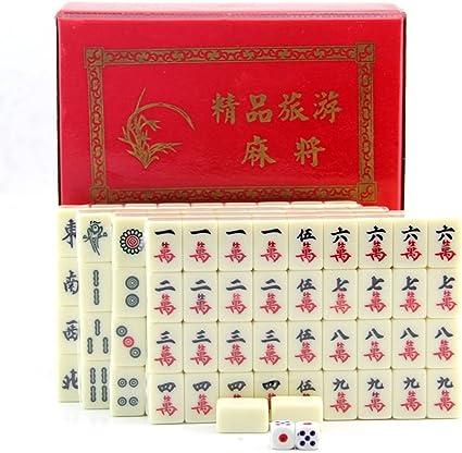 KESOTO Juego de Mesa Mahjong Chino Tradicional con Caja de ...