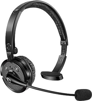 BlueFire Auriculares Bluetooth con Micrófono, Auriculares Inalámbricos con Cancelación de Ruido,Cascos PC Business,para Skype, Centros de Llamadas,Teléfono Fijo,Oficina,Truck Driver: Amazon.es: Electrónica