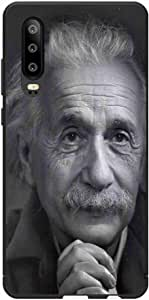 Okteq Case Cover for Huawei P30 Shock Absorbing PC TPU Full Body Drop Protection Cover matte printed - albert einstein 1 By Okteq