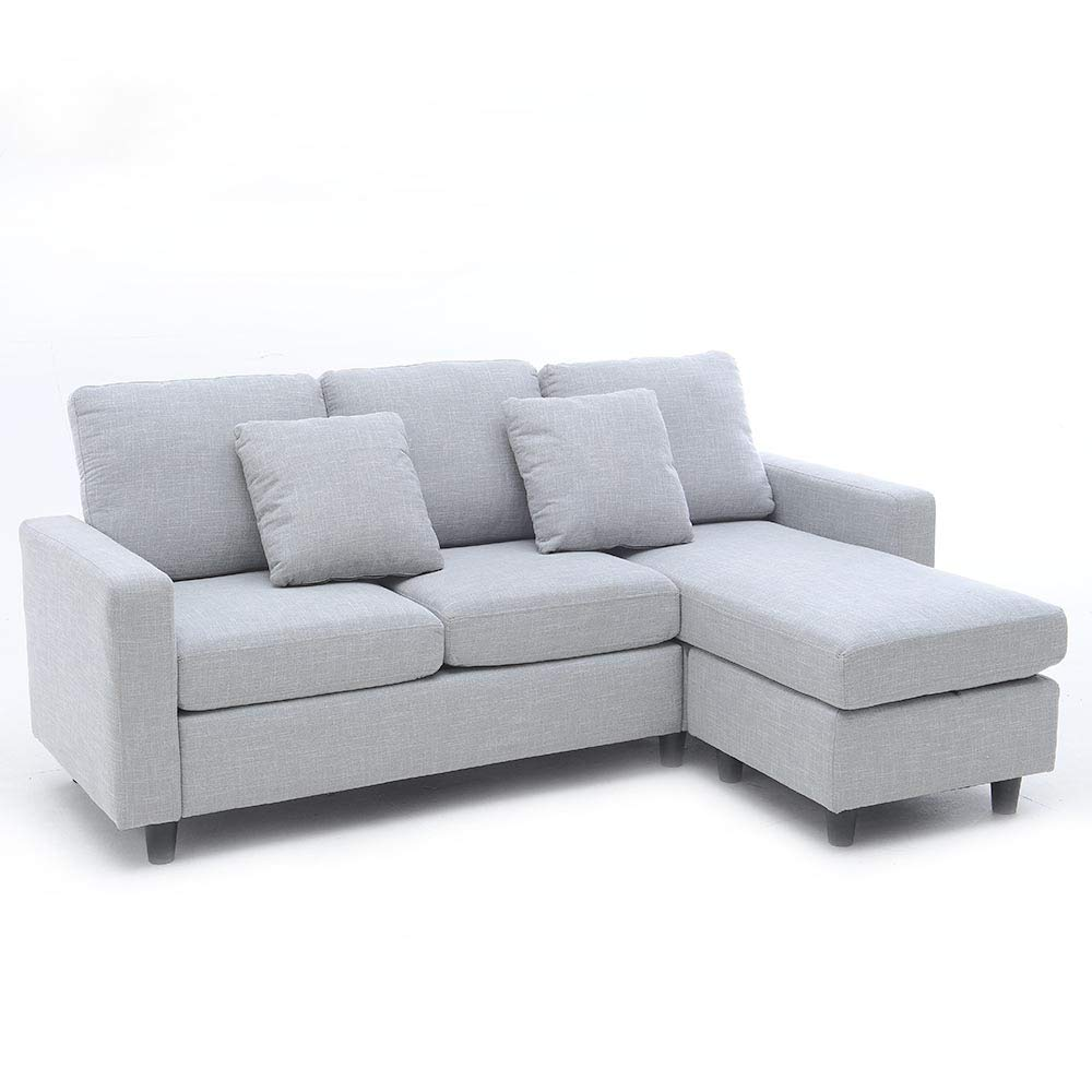 Luxes l corner sofa couch living room sofa line fabric classic modern furniture couches amazon co uk kitchen home