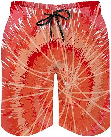 Pantalones cortos de playa para hombre, color rojo con tinte ...