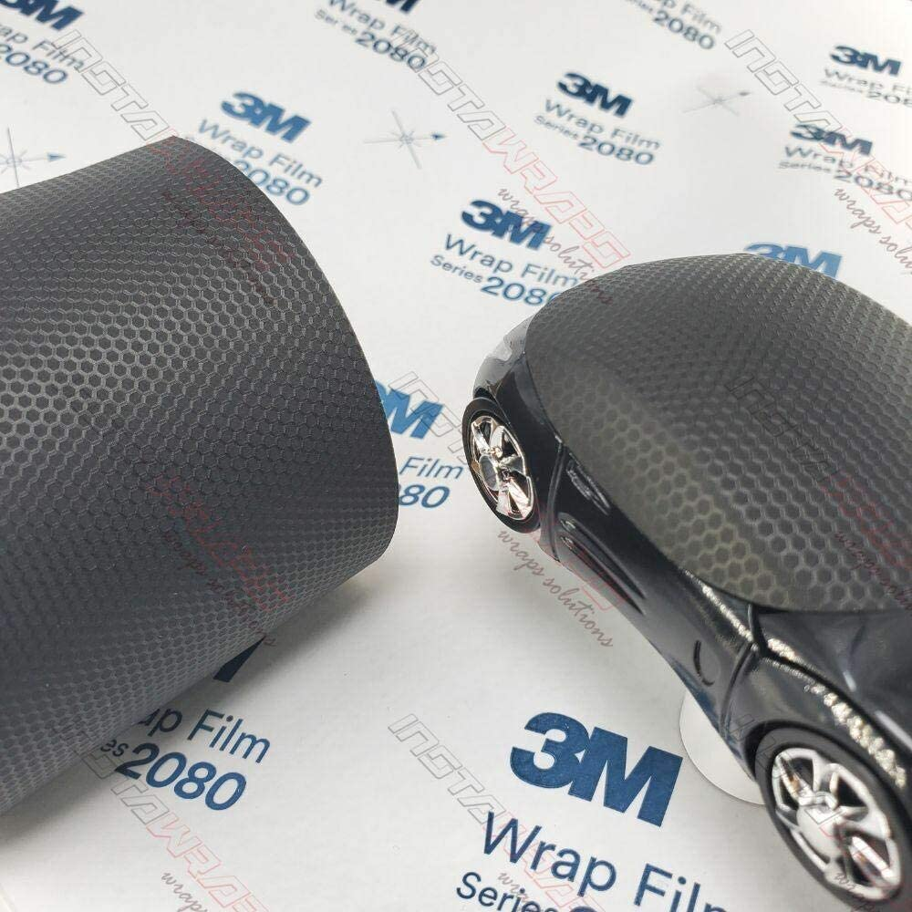 10 sq//ft Car Wrap Vinyl Film 3M 1080 S12 SATIN BLACK 5ft x 2ft