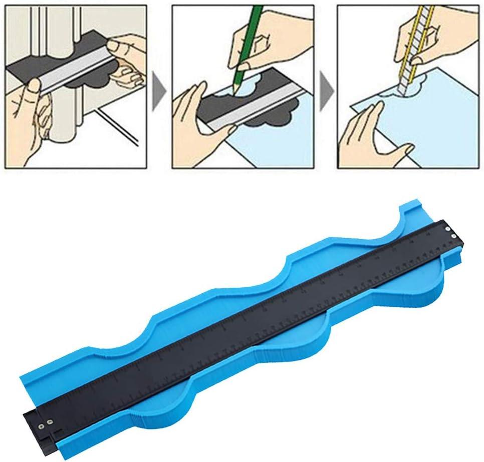 Yliquor 20 Inch Profile Shapes Duplicator ABS Plastic Contour Duplications Gauge Copy Irregular Shapes Measuring for Corners and Contoured