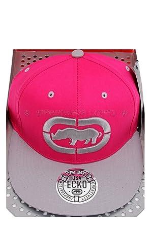 5dc73c5236f Image Unavailable. Image not available for. Colour  Ecko Unltd 3D Rhino  Logo Flat Peak Baseball Snapback Cap