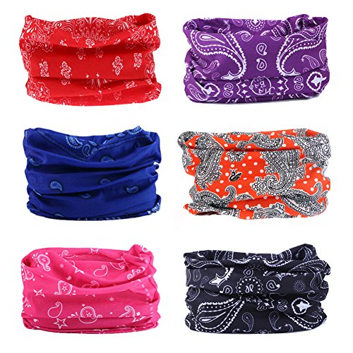Bamboo Nylon Collar (12 in 1 Wide 4pcs&8pcs Assorted Seamless Headbands for Men and Women Athletic Moisture Wicking Headwear for Sports Workout Yoga Multi Function Bandanna Headwrap Scarf Wrap)