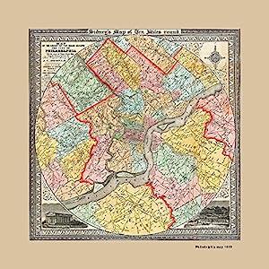Amazon classic philadelphia map of 1847 canvas art print 20x20 classic philadelphia map of 1847 canvas art print 20x20 freerunsca Gallery