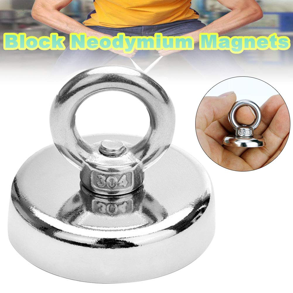 Zoomarlous Neodymium Magnet Super Strong Powerful Salvage Hook Fishing Magnetic Circular by Zoomarlous (Image #3)