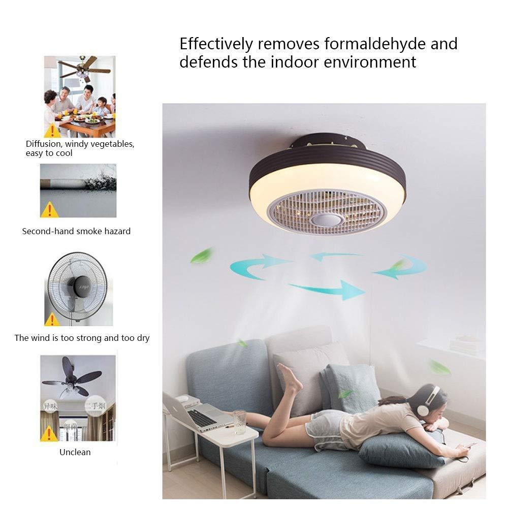 WPH Inicio Dormitorio Luz de techo, Luz de ventilador Ventilador de techo Luz de control remoto Ventilador de techo Regulable Lámpara de ventilador de techo silenciosa para sala de estar, comedor, do: