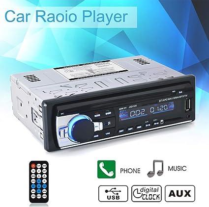Bluetooth Car Hi-Fi Stereo Audio InDash FM Aux Input Receiver SD USB MP3 Player