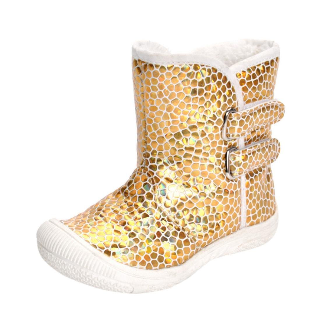 Gotd Toddler Newborn Baby Boy Girl Gold Leopard Boots Warm Martin Shoes Winter