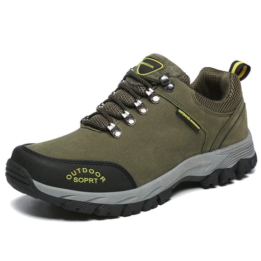 DSX Männer Sport Wanderschuhe Outdoor Wanderschuhe Atmungsaktiv Komfortable Schuhe Rutschfeste Trainingsschuhe Camping Wanderschuhe, Grün, 42EU