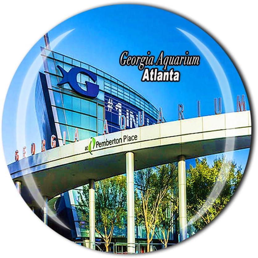 Georgia Atlanta USA Fridge Magnet Souvenir Gift Home Kitchen Decor Refrigerator Magnetic Sticker Collection