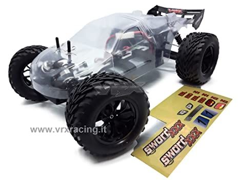 Truggy XXX Sword Off Road 1/10 con marco de metal motor a cepillos RC