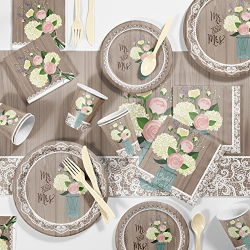 Large Rustic Wedding Bridal Shower Party Supplies Kit