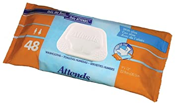 Amazon.com : Attends Washcloths Convenience Pack 48 washcloths per package. : Health : Beauty