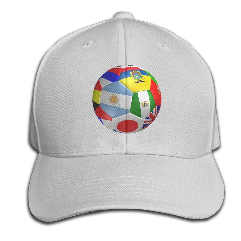 HXXUAN Baseball Hats Soccer Ball Flag Snapback Sandwich Cap Adjustable Peaked Trucker Cap
