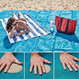 Sand Free Beach Mat - Essential Sand and Dirt Free Camping Mat - Extra Large Durable Polyester Camping Blanket - Lovin (blue, large)
