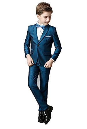 ce2a46ba3 Amazon.com  Toddler Kids Boys Suits Set Slim Fit Suit for Boys  Clothing