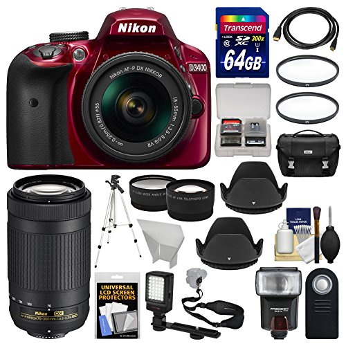 Nikon D3400 Digital SLR Camera & 18-55mm VR  & 70-300mm DX A