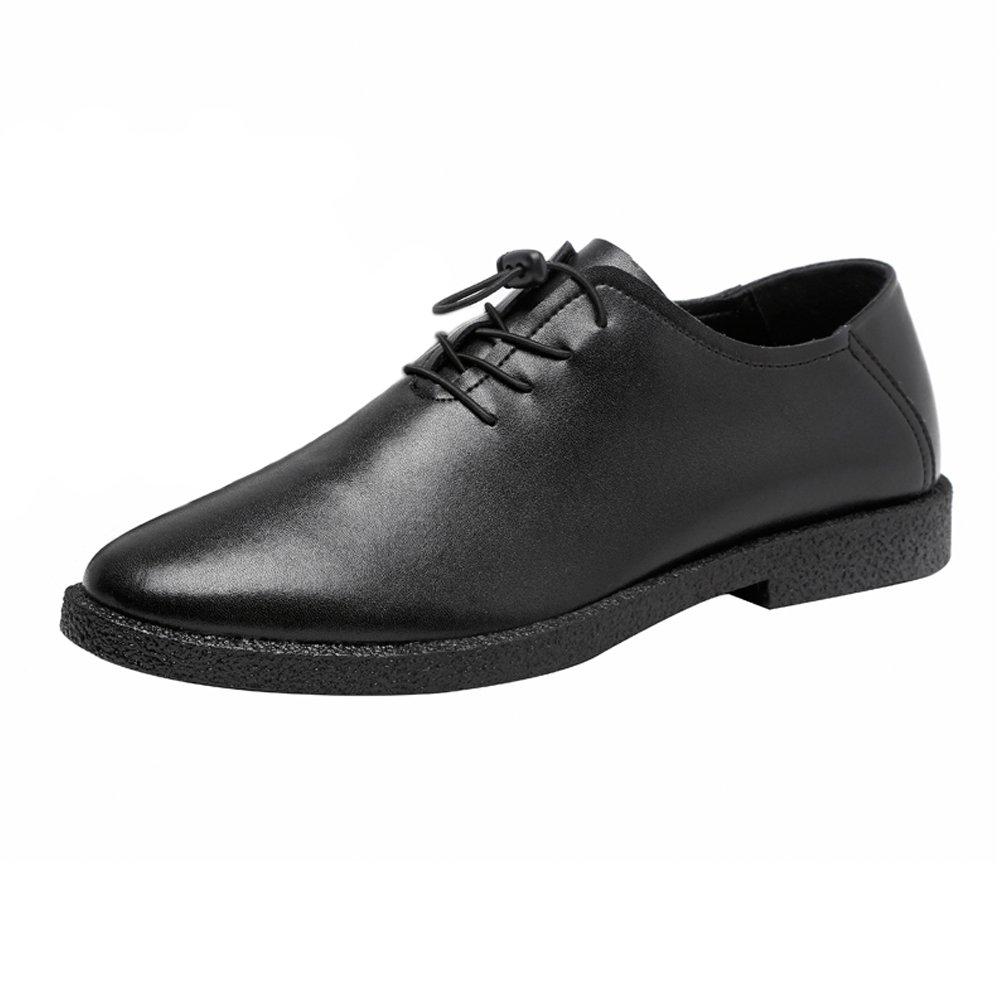 Mode Mode Mode för svarta JILUN -skor Män med låga toppskor Casual Matte Genuine läder Loafers Lace Up Line Oxfords  omtänksam service