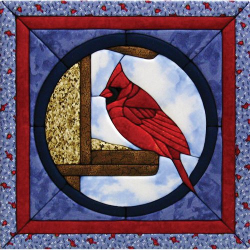 Quilt Magic 12-Inch by 12-Inch Cardinal Kit No Sew Quilt Kits