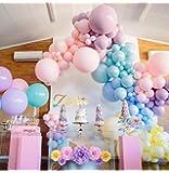 Orangetex® バルーン 風船 パステル マカロン カラー 結婚式 パーティー デコレーション 誕生日 装飾 用 ヘリウム 充填対応 10個入 セット (カラーミックス, 25cm)