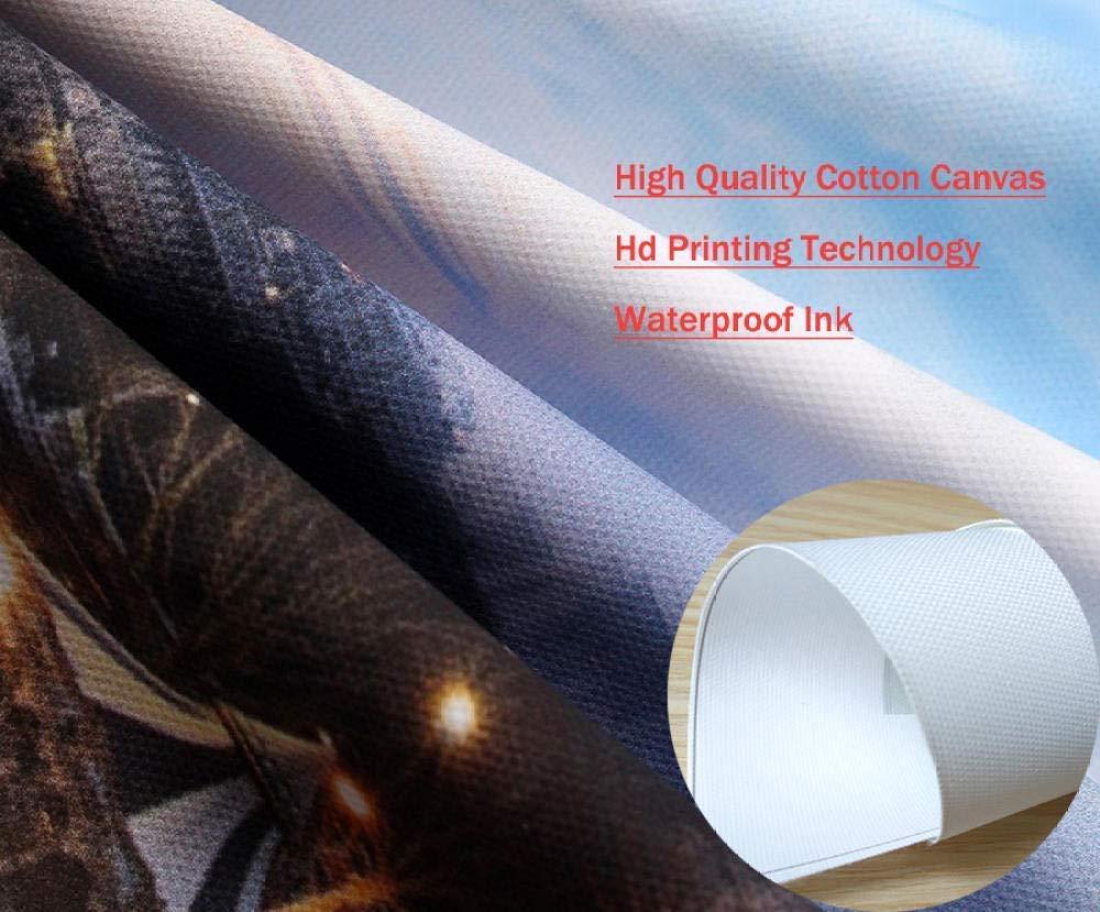 LYSBHX Stampa su Tela Canvas Arredamento Arte 5 Pezzi Opera dArte Murale Pannello Poster Modulare Quadro Lupo di Neve Selvaggia Stampa HD Tela Moderna Pittura Decorazione della Casa Soggio 200x100CM