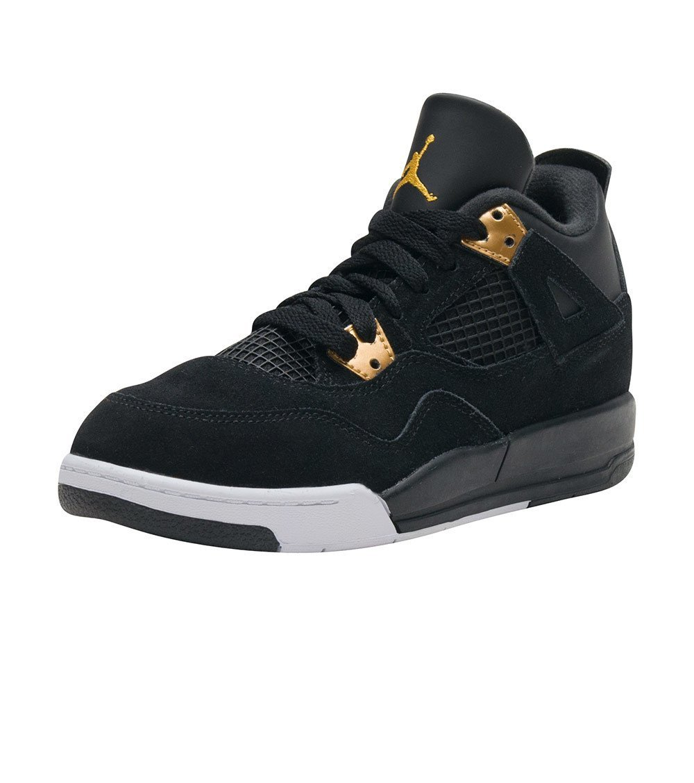 Nike Jordan 4 Retro BP Black/Metallic Gold/White 308499-032 (SIZE: 1.5Y) by Jordan