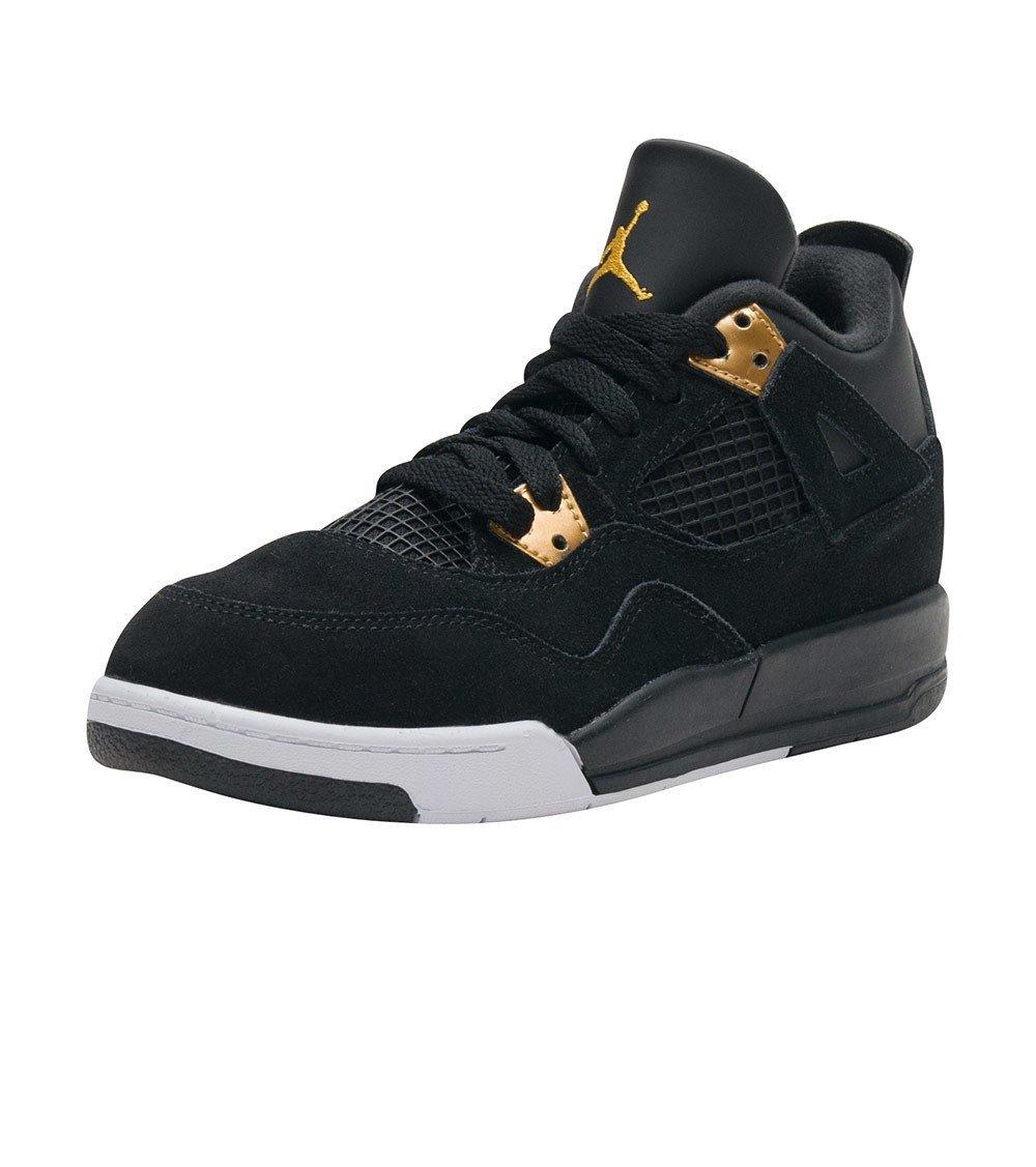 Jordan 4 Retro BP Little Kid's Shoes Black/Metallic Gold/White 308499-032 (13 M US)