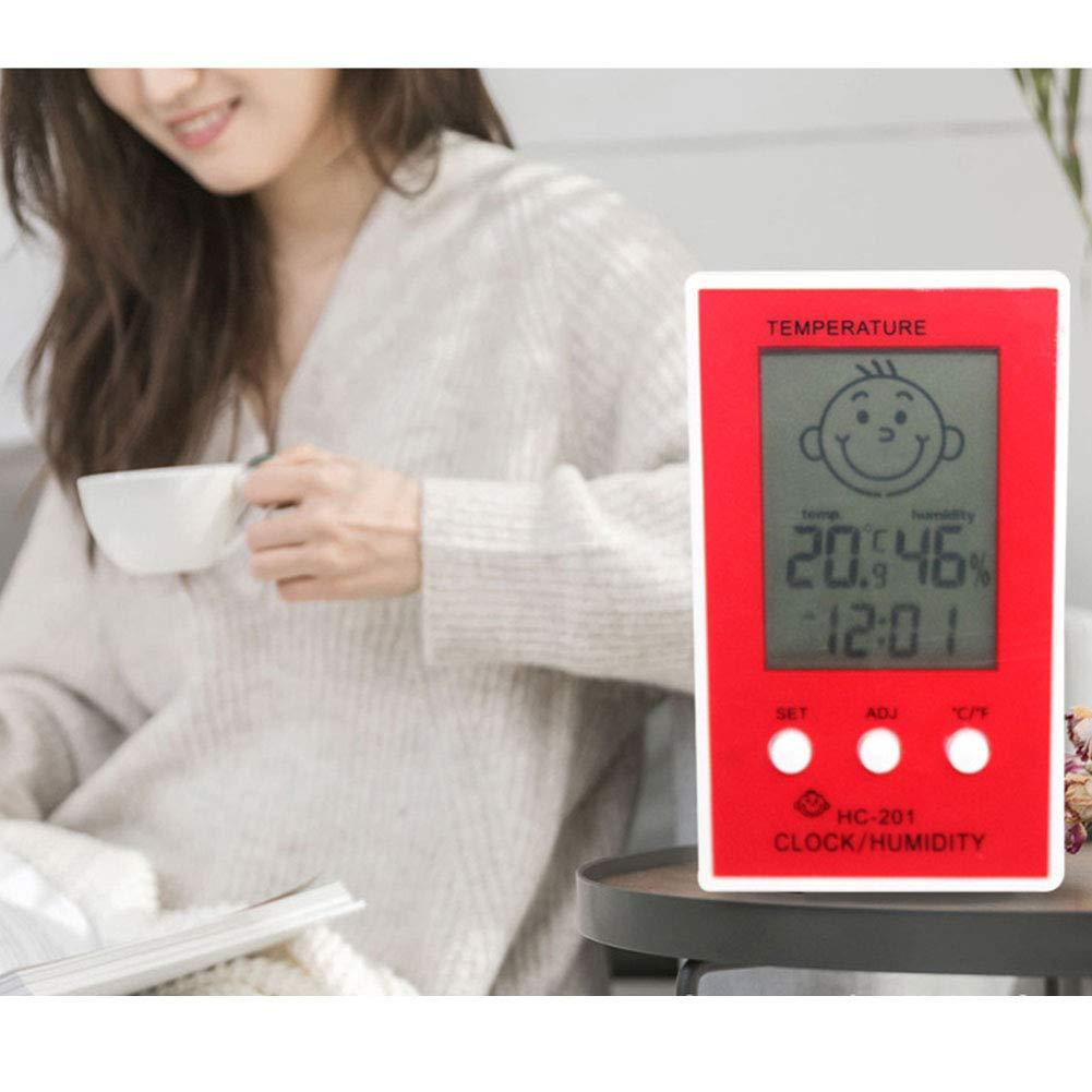 Baby Thermometer Luftfeuchtigkeit LCD Digital Raumhygrometer Thermometer f/ür Babyzimmer Temperatur Luftfeuchtigkeit Feuchtigkeitsmesser mit L/ächeln//Trauer Emotion