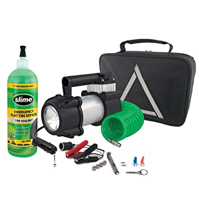 Slime 50063 Truck Spair Heavy Duty 12-Volt Inflator & Tire Repair Kit: Automotive