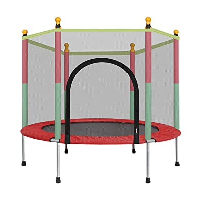 Basde 5 FT Kids Trampoline with Safety Enclosure Net Jumping Mat and Spring Cover Padding Can Load 442 lbs, for Kids Indoors and Outdoors (Ship from USA) : Sports & Outdoors