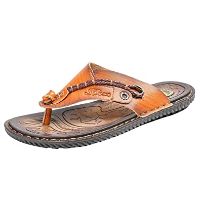 509091f3efbc LILICAT Men s Essential Beach Sandal Thong Sandals Mens Fashion Casual Flat Flip  Flops Slippers Beach Sandals Outdoor Skid Shoes  Amazon.co.uk  Shoes   Bags