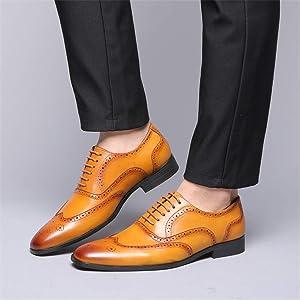 Brogue Uomo Basse Pelle Scarpe da Stringate Oxford Business