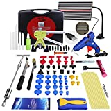 Super PDR DIY Car Auto Body Dent Removal Repair Tools Kits Car Scratch Remover Pen Dent Board Slide Hammer Working Gloves Glue Puller Sets Black Tool Box