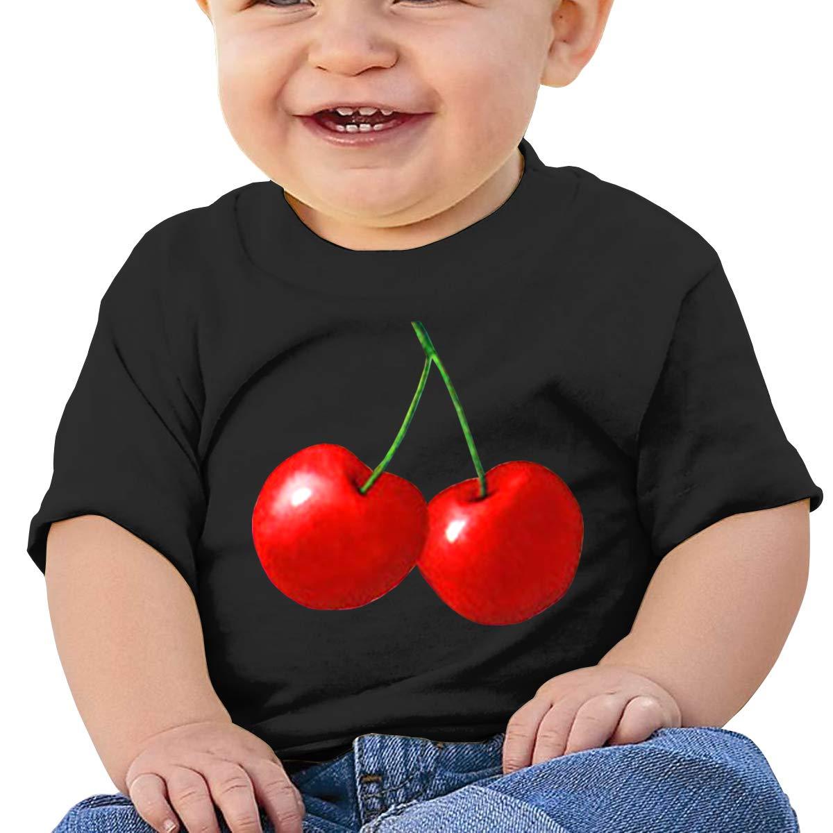 Qiop Nee Red Cherry Short-Sleeve Tee Baby Girls