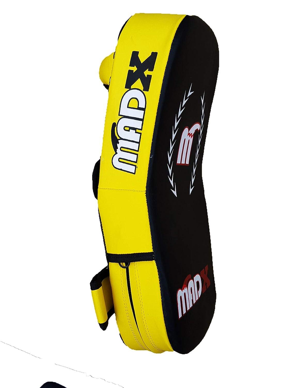 MADX - Almohadilla Curvada de Cuero de rexión para Kickboxing Artes Marciales, Azul