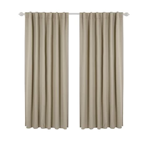Deconovo Blackout Curtains Rod Pocket And Back Tab Living Room Solid Window Treatments Insulated Thermal