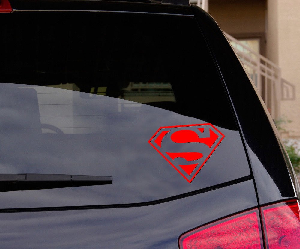 Amazon com superman decal sticker for car window laptop and more 5 5 wide choice of colors automotive