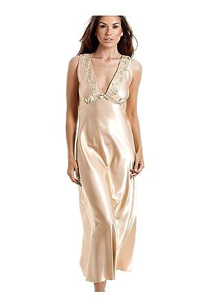 ded7372870e5 Camille Womens Ladies Luxury Gold Satin Chemise 10 12  Camille   Amazon.co.uk  Clothing