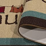 "Ottomanson Laundry Runner Rug, 20"" x 59"", Brown"