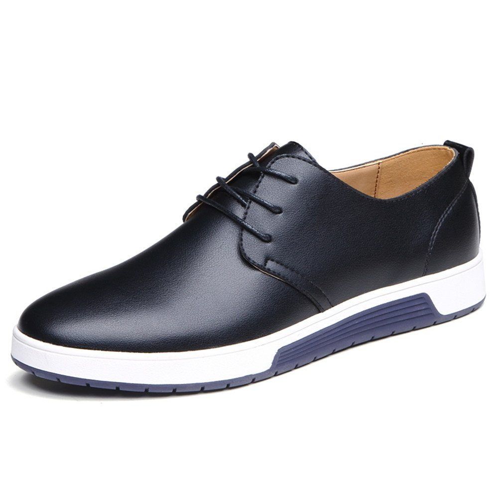 Jtomoo Men's Business Style Work Casual Faux Leather Shoes