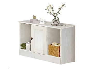Loft24 Minna Sitzbank Weiß Bank Mit Aufbewahrung Badezimmer Badmöbel  Stauraum Kiefer Massiv Landhaus 80x45 Cm 1