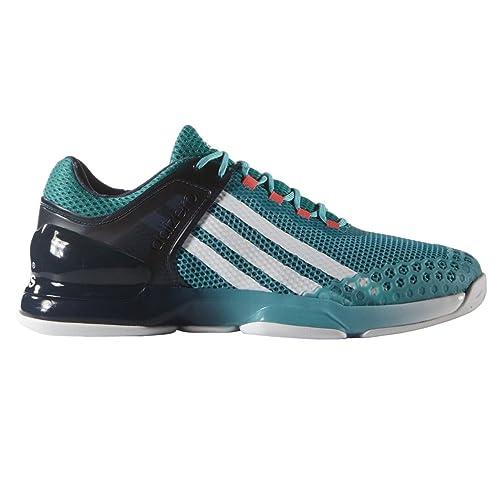 Adidas Adizero Ubersonic, Zapatillas de Tenis para Hombre, Verde/Blanco/Azul (Verimp/Ftwbla/Azumin), 45 1/3 EU