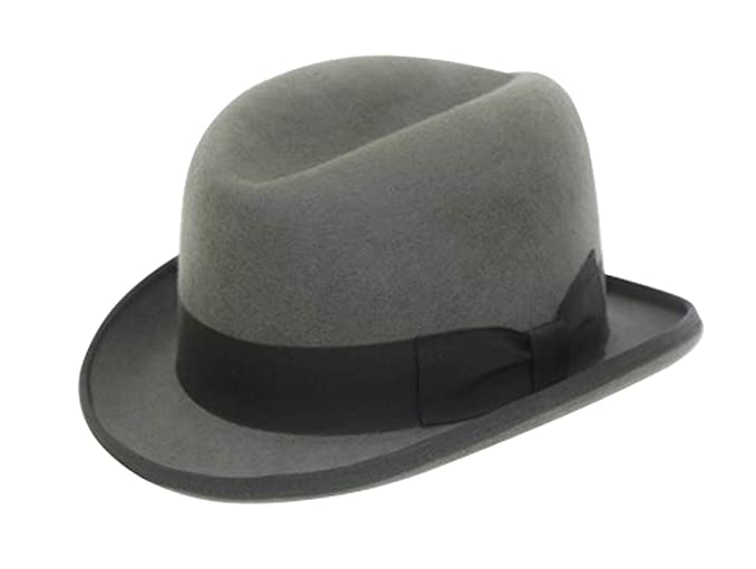 1a5ab5d98071 Image Unavailable. Image not available for. Colour  Men s Traditional Wool  Grey Homburg Hat