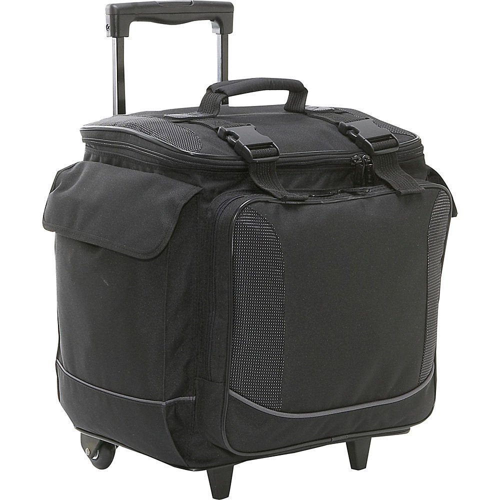 Bellino Bottle Limo 12 Bottle Insulated Wine Tote Case Wheel Travel Cooler with Organizer, Black by Bellino (Image #1)