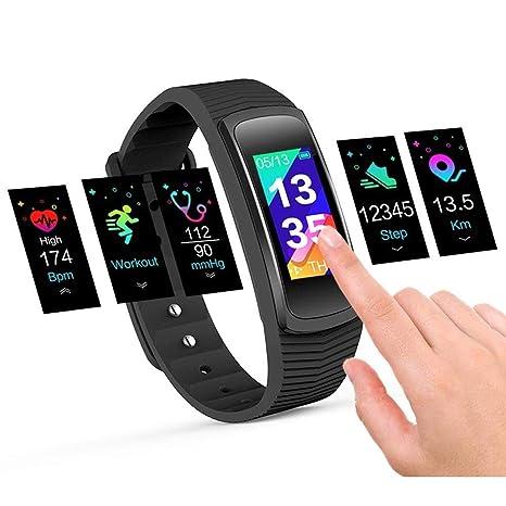 Pulsera Actividad Pulsómetro y Monitor de Actividad IP67 Resistente al agua, Smartwatch GPS Pasos Podómetro Calorías Alarma Seguimiento del sueño ...