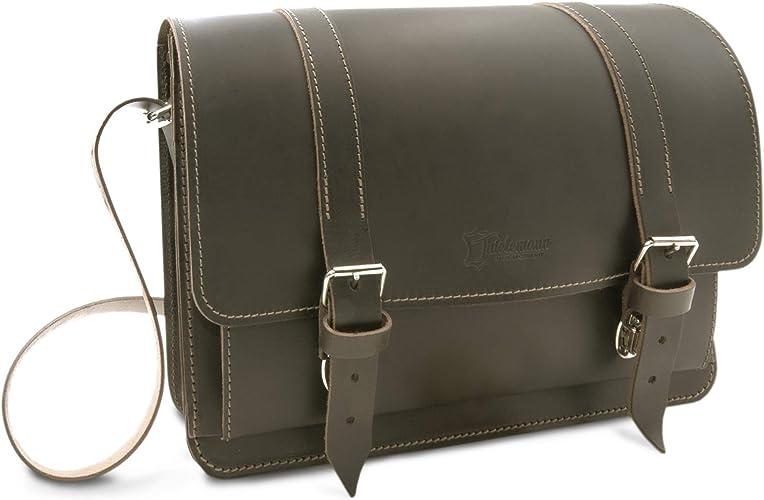 Organic rustic leather messenger bag Leather portfolio Leather document bag Distressed leather shoulder messenger bag