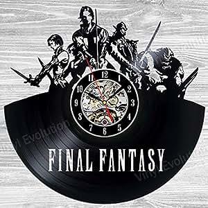 Amazon Com Final Fantasy Vinyl Wall Clock Art Gift Room